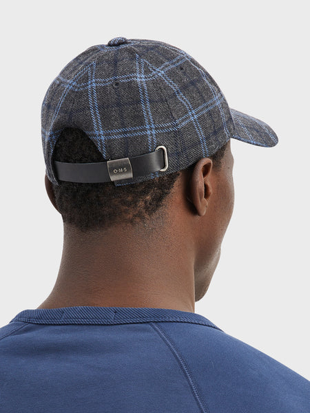 ONS Clothing Men's hat cap in DK. GREY CHECK DARREL CAP