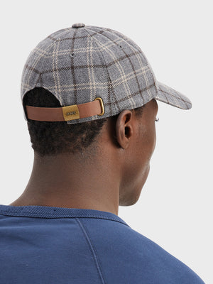 black friday deals ONS Clothing Men's hat cap in LT. GREY CHECK DARREL CAP
