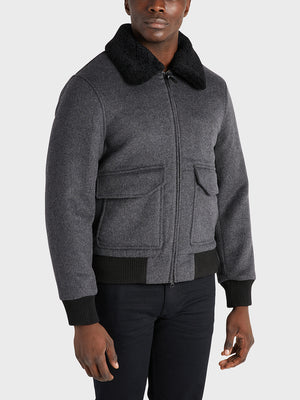 ONS Clothing Men's Jacket in DK GREY black friday deals