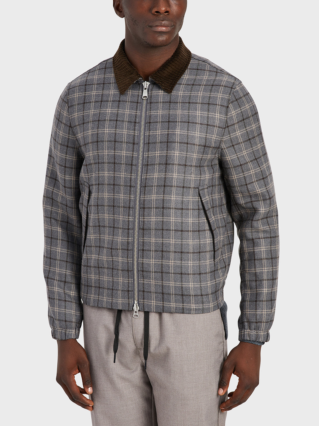 black friday deals ONS Clothing Men's outerwear in LT GREY CHECK