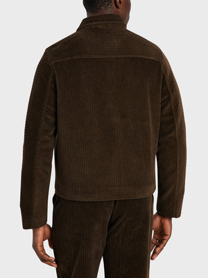 black friday deals ONS Clothing Men's CONNOR CORD JACKET in COFFEE