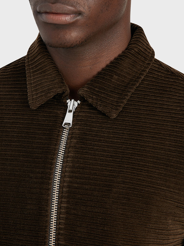 ONS Clothing Men's CONNOR CORD JACKET in COFFEE