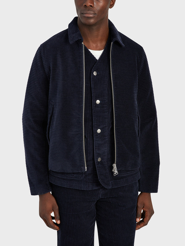 ONS Clothing Men's CONNOR CORD JACKET in NAVY