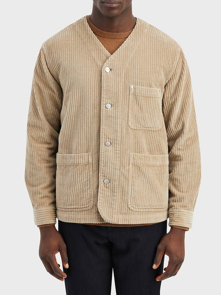 ONS Clothing Men's jacket in KHAKI FISKE CORDUROY JACKET