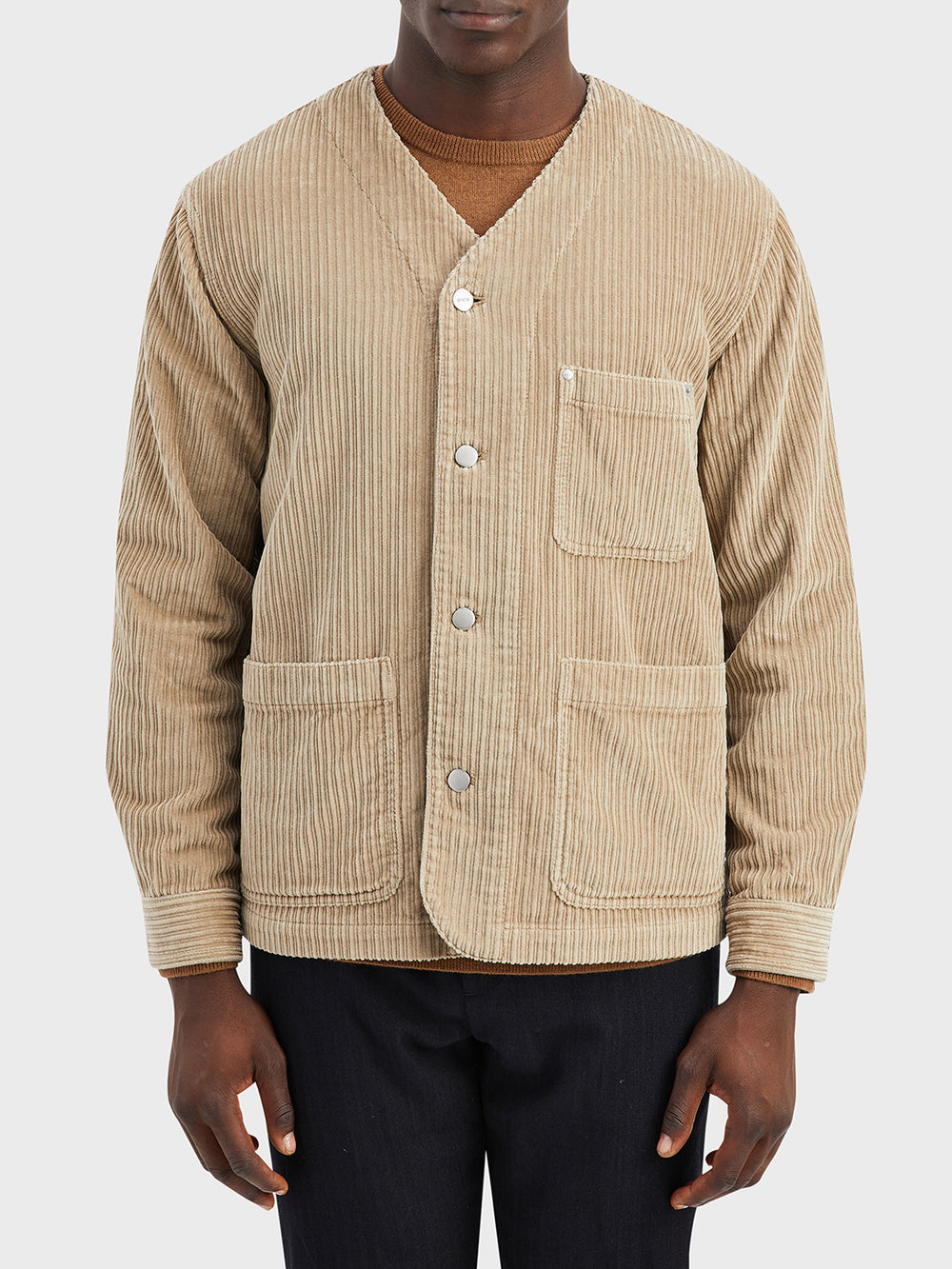black friday deals ONS Clothing Men's jacket in KHAKI FISKE CORDUROY JACKET