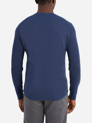 ONS Clothing Men's COURT WAFFLE HENLEY in NAVY