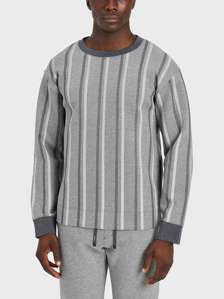black friday deals ONS Clothing Men's sweater in GREY H STRIPE