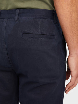 ons rider chino Pre-shrunk Cotton Men's pants for big thighs Dark Navy