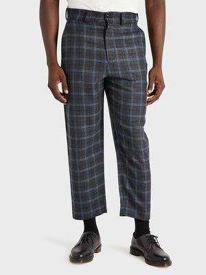ONS Clothing Men's CROSBY WOOL PANTS in DK GREY CHECK