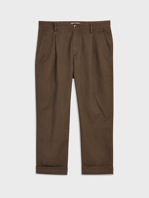 ONS Clothing Men's MODERN CHINO in DK BROWN