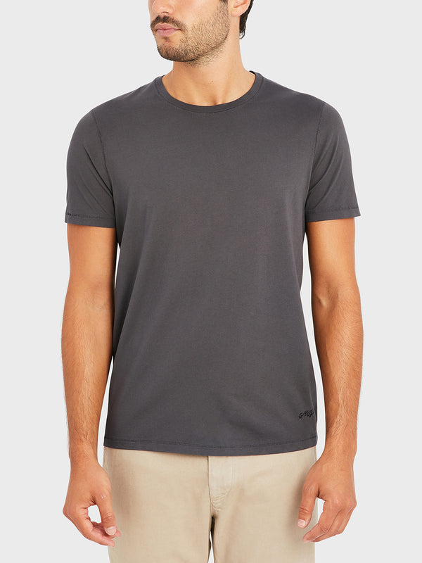 ONS VILLAGE CREW NECK TEE CHARCOAL GRAY