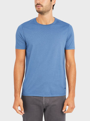 ONS VILLAGE CREW NECK TEE COBALT BLUE 100% Supima Cotton, Pre-shrunk cotton black friday deals