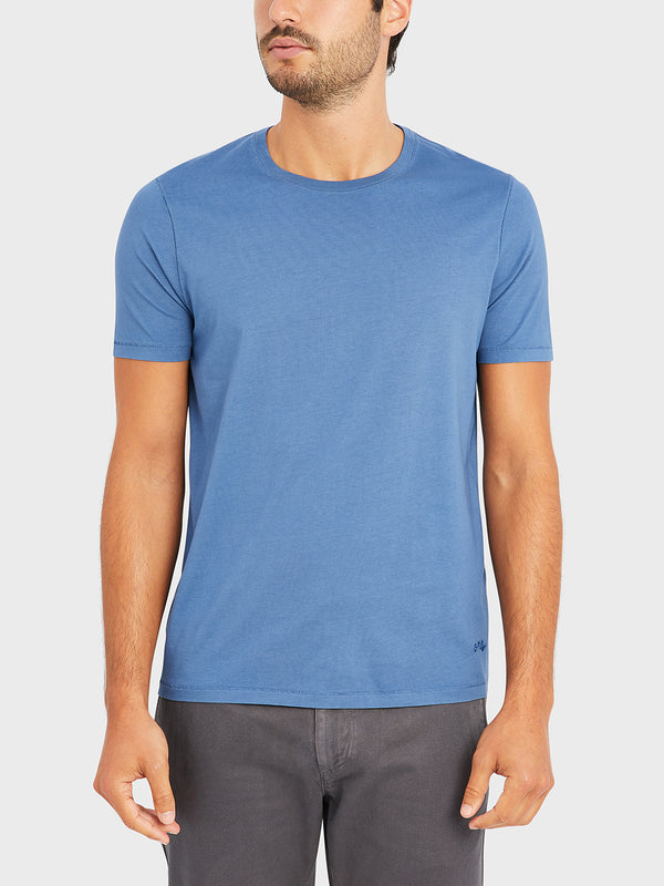 ONS VILLAGE CREW NECK TEE COBALT BLUE