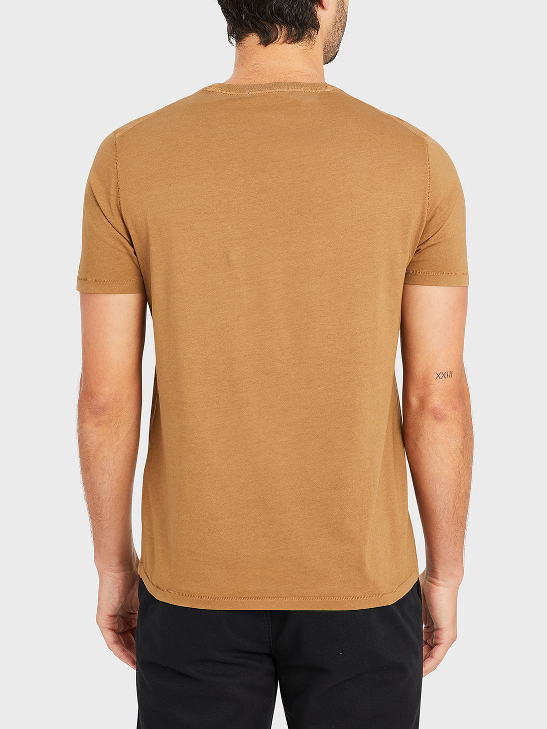 ONS VILLAGE CREW NECK TEE COFFEE 100% Supima Cotton, Pre-shrunk cotton