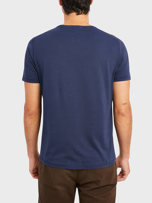 ons village crew neck tee Dark Navy 100% Supima Cotton, Pre-shrunk cotton. Round-neck men's Tee