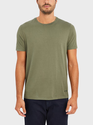 ONS VILLAGE CREW NECK TEE OLIVE GREEN 100% Supima Cotton, Pre-shrunk cotton