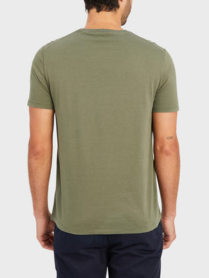 ONS VILLAGE CREW NECK TEE OLIVE GREEN