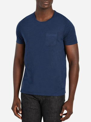 ONS Clothing Men's Bowery Slub Pocket tee in Dark Navy