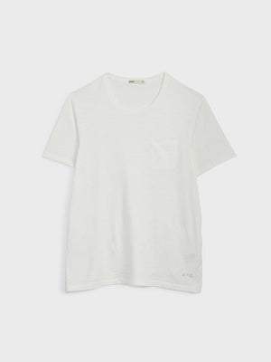 ONS Clothing Men's Bowery Slub Pocket tee in White