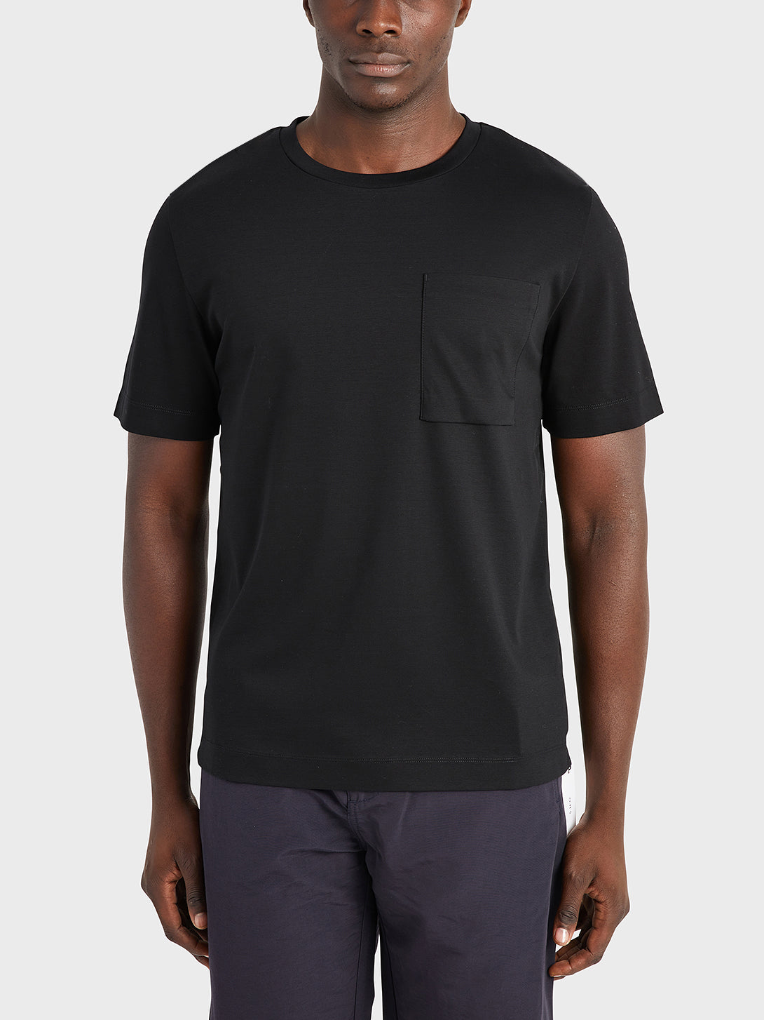 ONS Clothing Men's Baseile Pocket Tee in BLACK