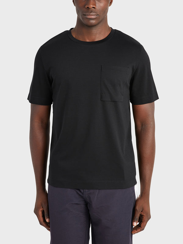 black friday deals ONS Clothing Men's Baseile Pocket Tee in BLACK