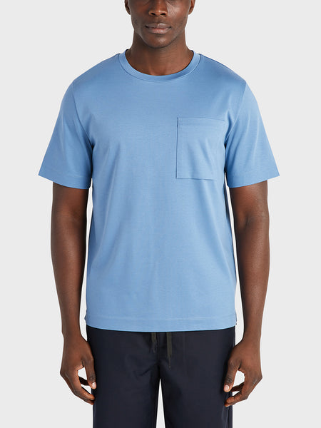 ONS Clothing Men's Baseile Pocket Tee in BLUE