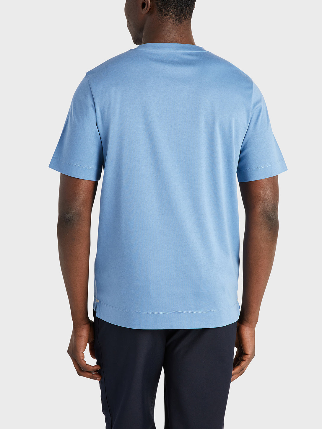 Mid Blue Baseile Pocket Tee Men's cotton t-shirts ONS Clothing