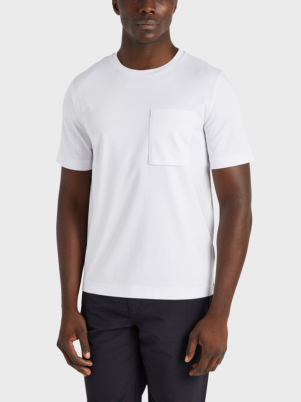 ONS Clothing Men's Baseile Pocket Tee in WHITE