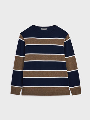 ONS Clothing Men's sweater in COFFEE STRIPE black friday deals