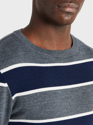 ONS Clothing Men's sweater in NAVY STRIPE black friday deals