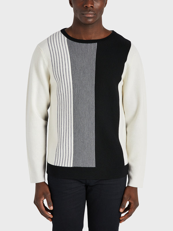 ONS Clothing Men's sweater in BLACK STRIPE black friday deals