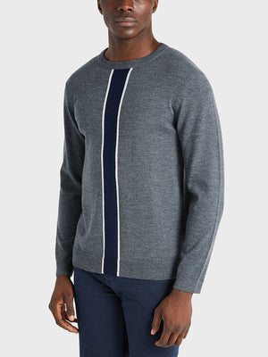 ONS Clothing Men's sweater in CHARCOAL H STRIPE black friday deals