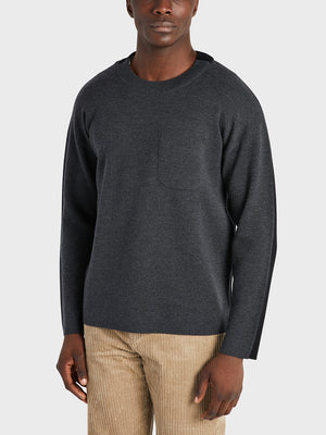 ONS Clothing Men's sweater in CHARCOAL