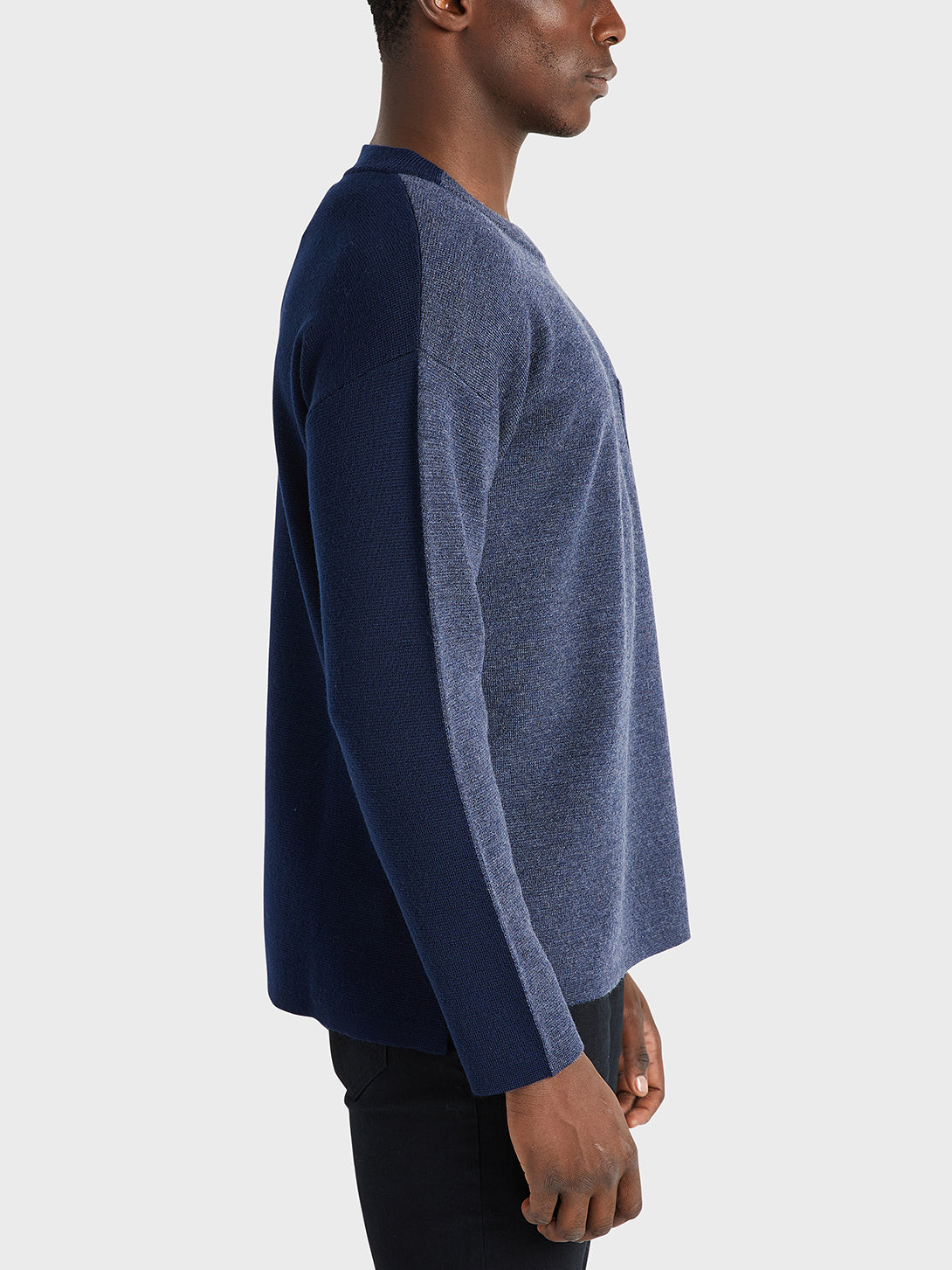ONS Clothing Men's sweater in HEATHER NAVY