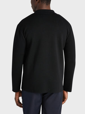 ONS Clothing Men's Cole wool cardigan in BLACK