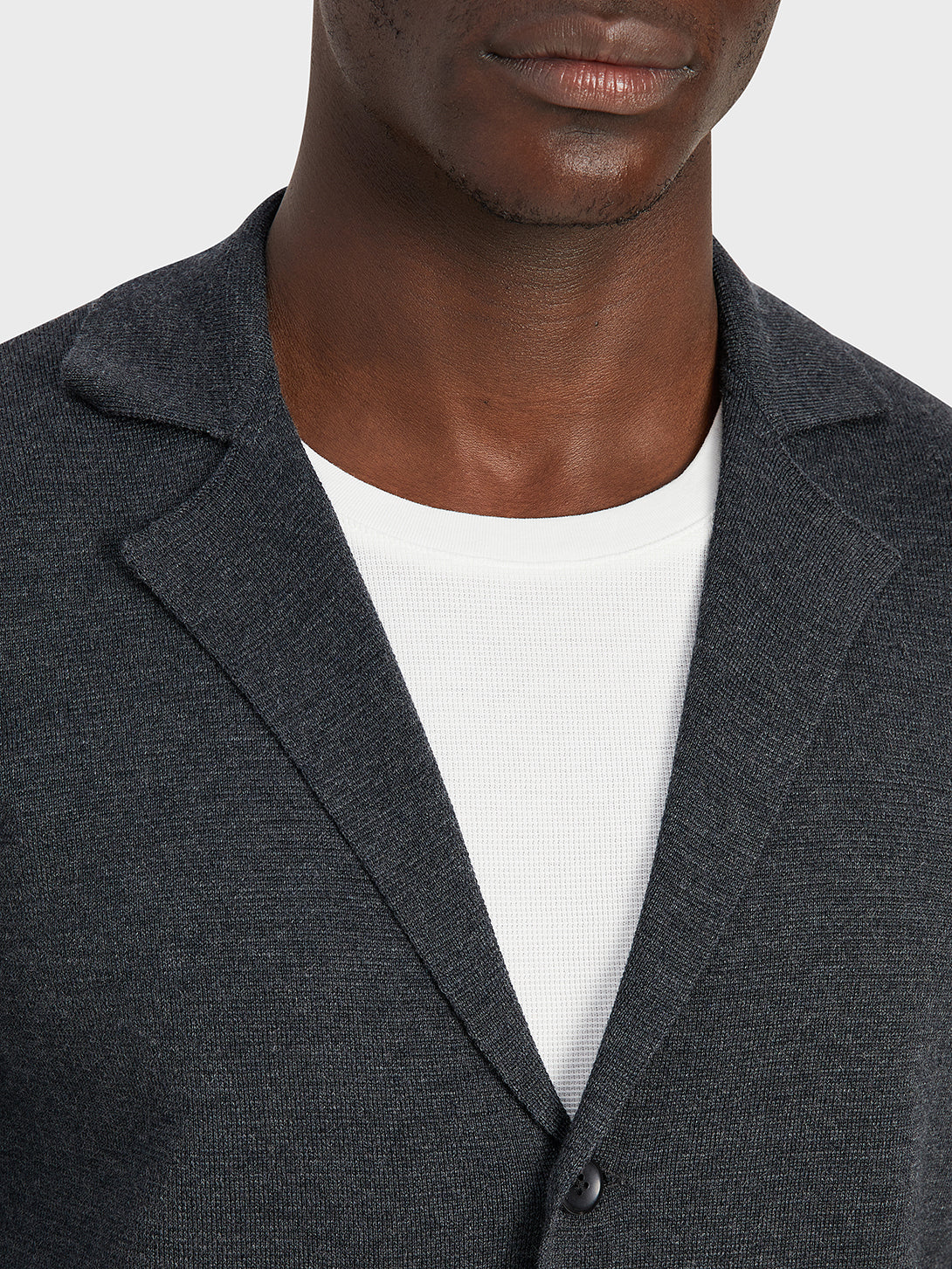 black friday deals ONS Clothing Men's Cole wool cardigan in CHARCOAL