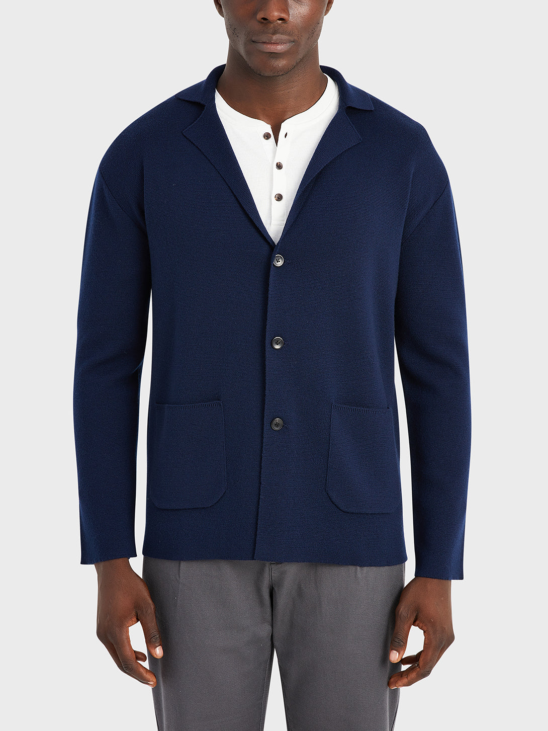 black friday deals ONS Clothing Men's Cole wool cardigan in NAVY