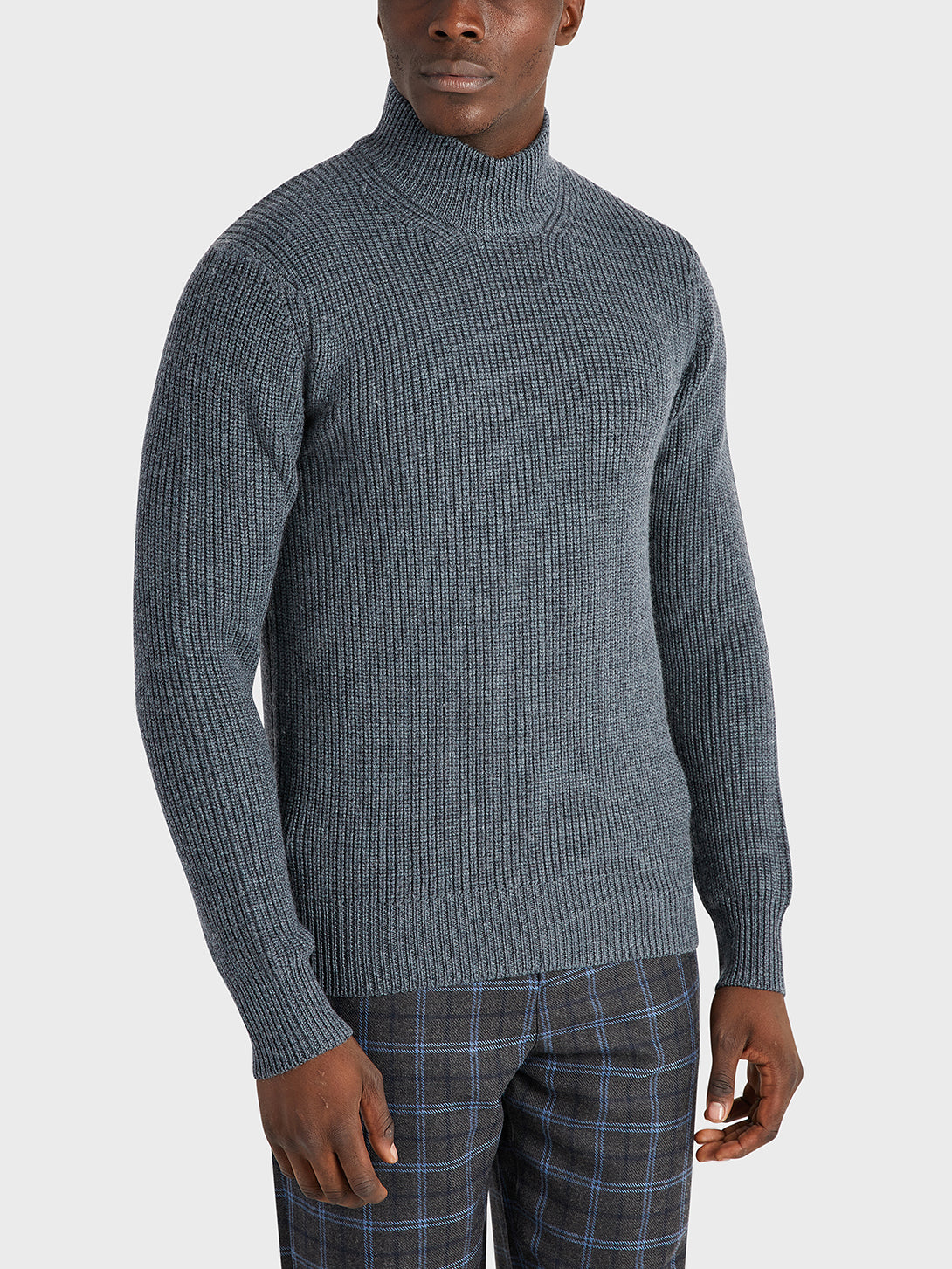 black friday deals ONS Clothing Men's Acton Mock Neck Sweater in CHARCOAL H