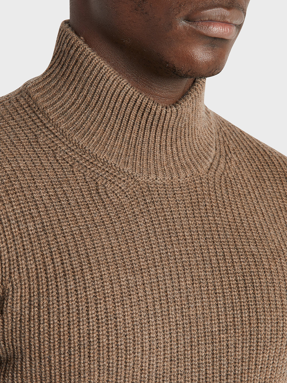 black friday deals ONS Clothing Men's Acton Mock Neck Sweater in COFFEE