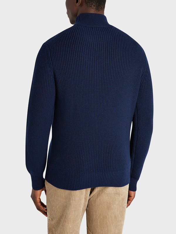 ONS Clothing Men's Acton Mock Neck Sweater in NAVY H