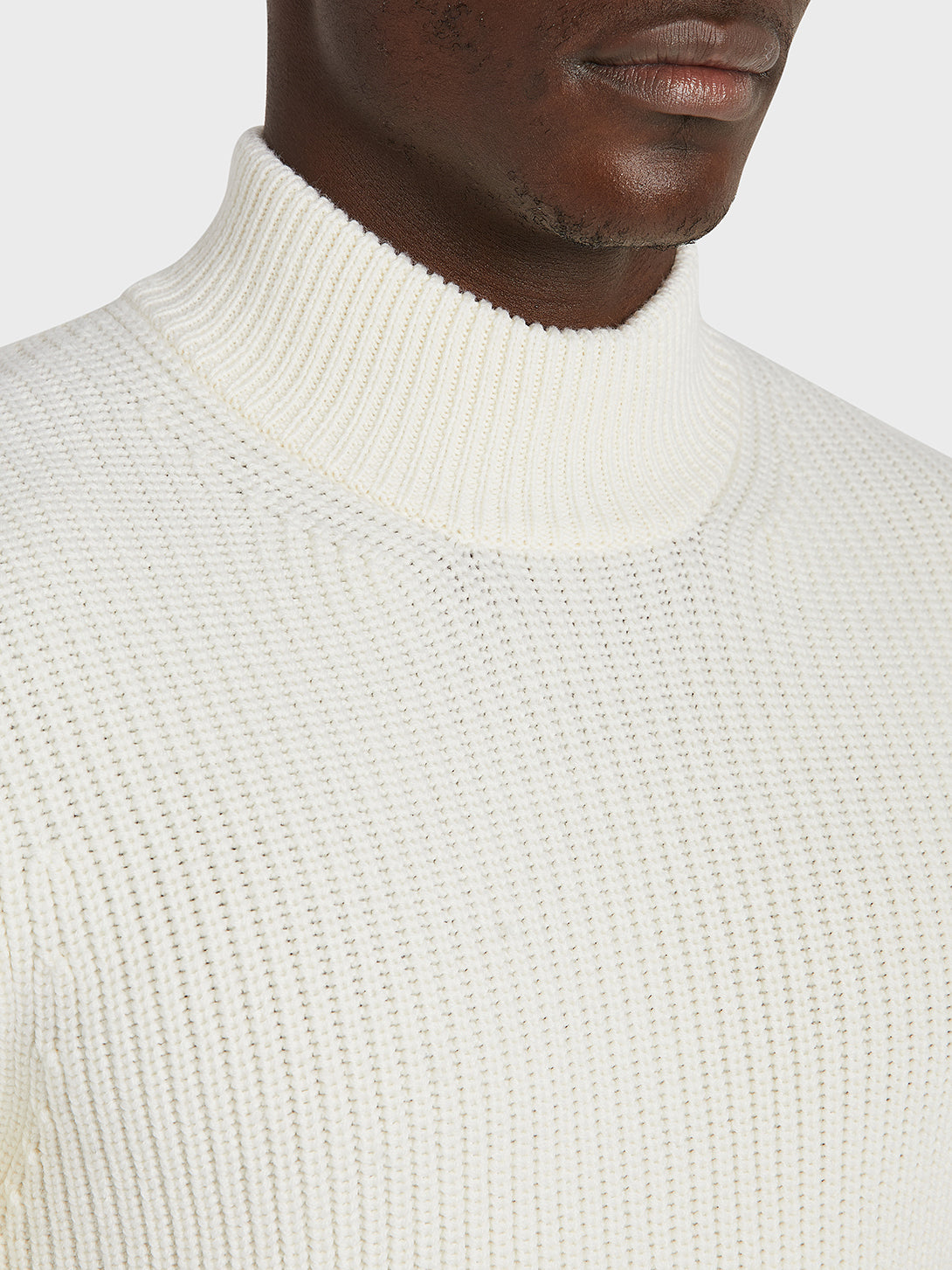 black friday deals ONS Clothing Men's Acton Mock Neck Sweater in OFF WHITE
