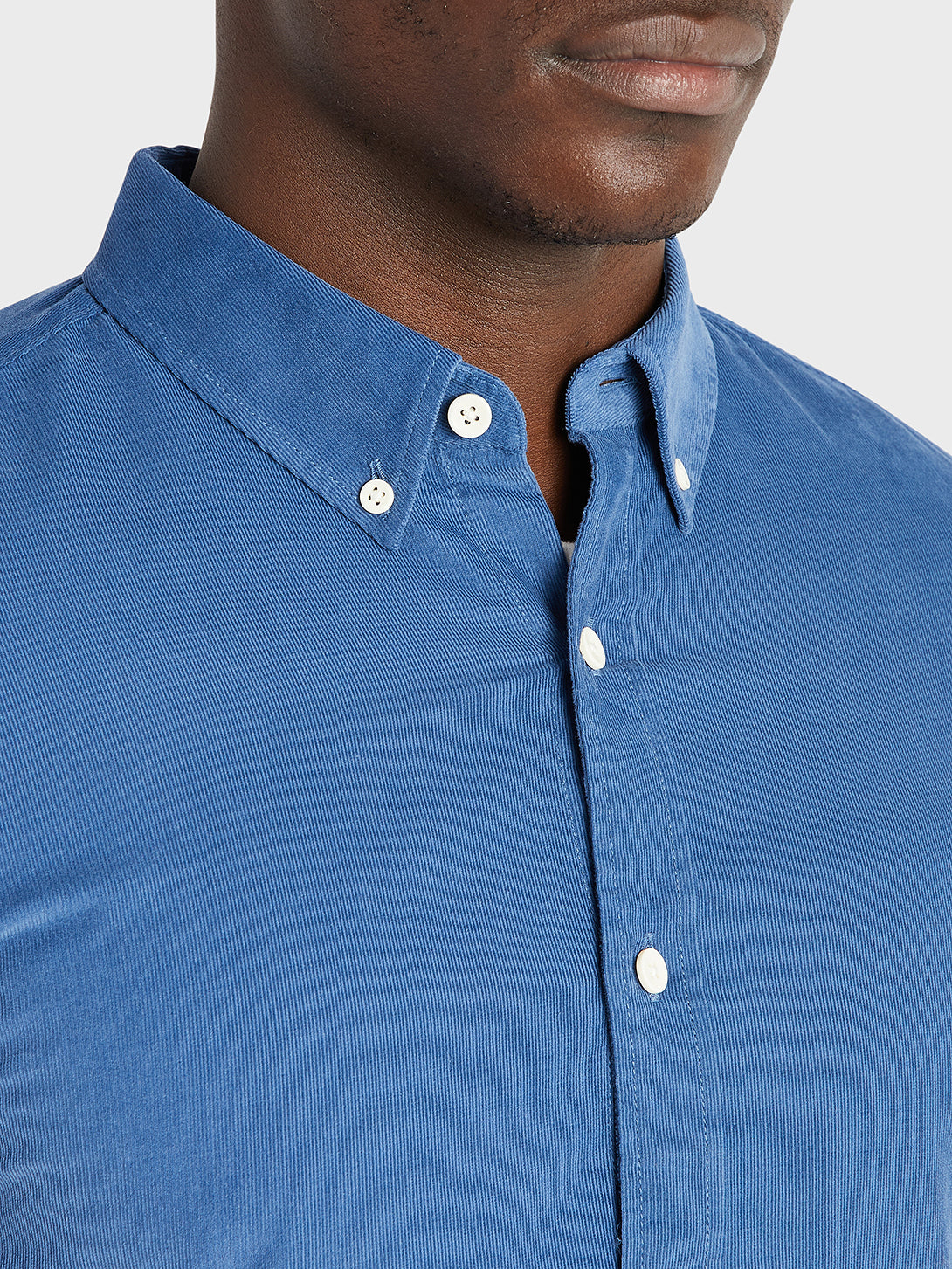 ONS Clothing Men's FULTON CORD SHIRT in COBALT BLUE