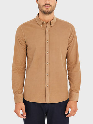 black friday deals ONS Clothing Men's FULTON CORD SHIRT in COFFEE