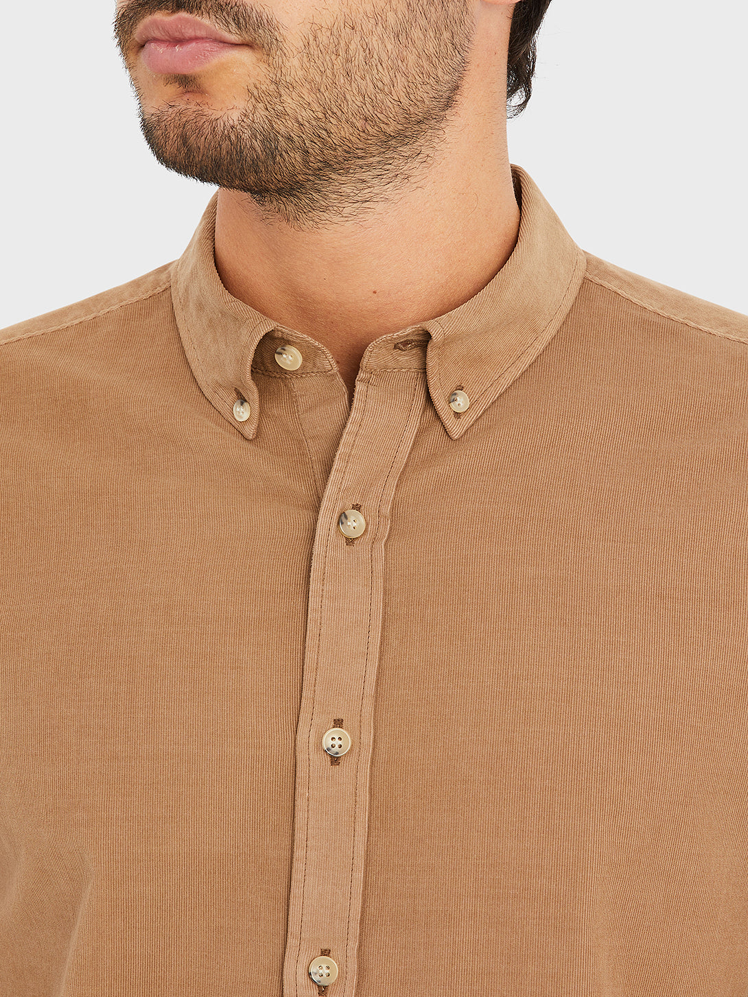 ONS Clothing Men's FULTON CORD SHIRT in COFFEE