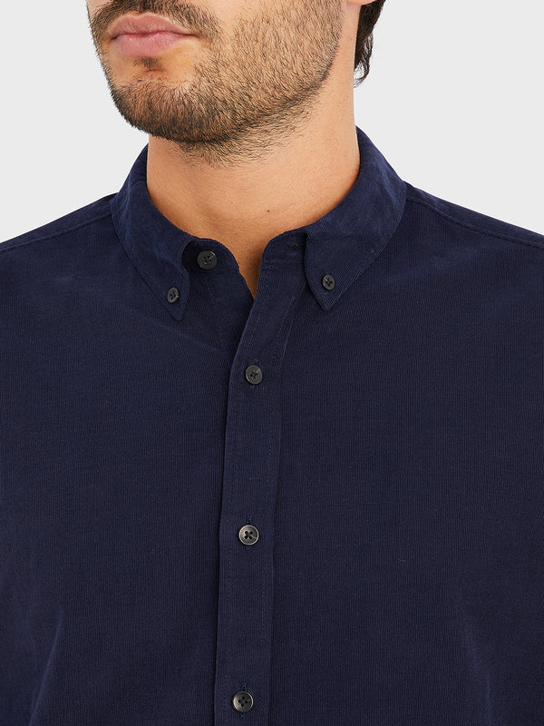 ONS Clothing Men's FULTON CORD SHIRT in NAVY