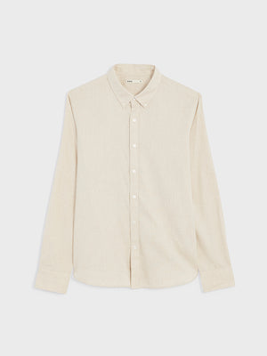 black friday deals ONS FULTON PEACHED OXFORD Mens shirt in  CEMENT