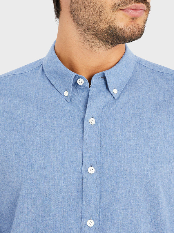 black friday deals ONS FULTON PEACHED OXFORD Mens shirt in COBALT BLUE