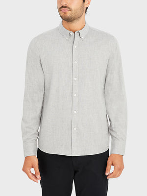 ONS FULTON PEACHED OXFORD Mens shirt in  GREY