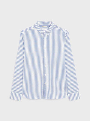 black friday deals FULTON STRIPED OXFORD SHIRT BLUE STRIPE