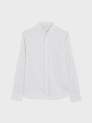 FULTON STRIPED OXFORD SHIRT GREY STRIPE